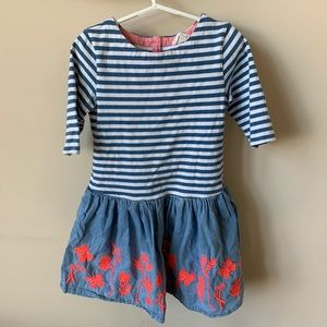 Mini Boden stripe twofer dress #1724